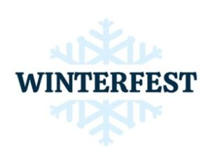 Snowflake with the word Winterfest in the middle